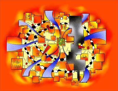 Deselia V3 - Abstract Digital Artwork Art Print by Cersatti