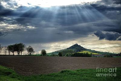 Photograph - Desenberg Castle Ruins Under The Sunbeams by Eva-Maria Di Bella