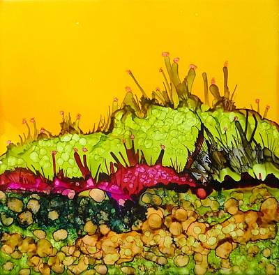 Painting - Desert Abstract Landscape by Laurie Anderson