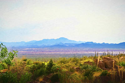 Digital Art - Desert And Mountains Digital Art by Randy Herring
