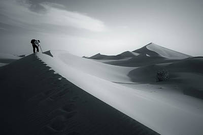 Photograph - Desert And Photographer by Khaled Hmaad