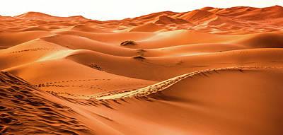 Landscape Photograph - Desert Art - Orange Dunes by Wall Art Prints
