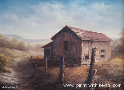 Kevin Hill Painting - Desert Barn by Kevin Hill
