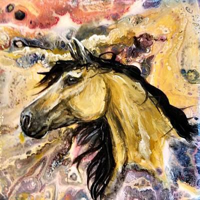 Painting - Desert Buckskin by Gail Butler