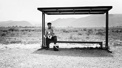 Photograph - Desert Bus Stop by Michel Verhoef