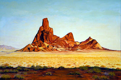 Painting - Desert Buttes by Evelyne Boynton Grierson