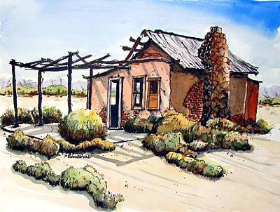 Desert Cabin Art Print by Terry Banderas