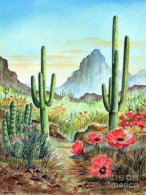 Painting - Desert Cacti - After The Rains by Bill Holkham