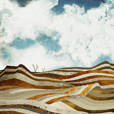 Abstract Landscape Digital Art - Desert Calm by Spacefrog Designs