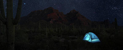 Organ Pipes Photograph - Desert Camping by Steve Gadomski