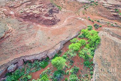 Photograph - desert canyon in Utah aerial view by Marek Uliasz
