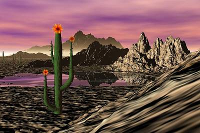 Digital Art - Desert Cartoon by David Lane