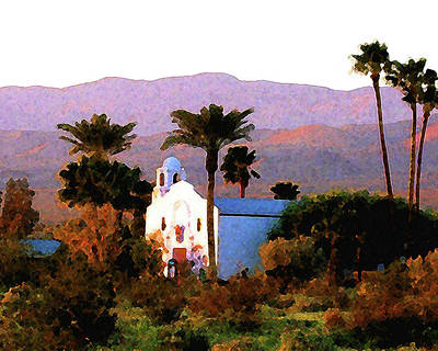 Digital Art - Desert Church by Timothy Bulone