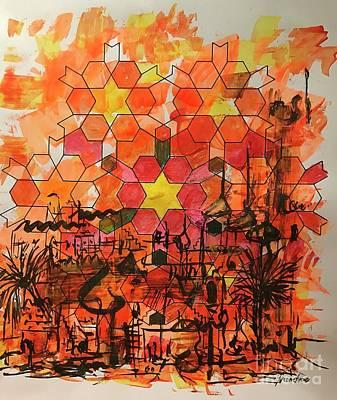 Desert Cityscape Art Print by Yvonne Ayoub