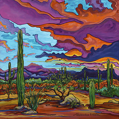 Painting - Desert Color Burst by Alexandria Winslow
