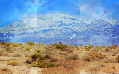 Las Vegas Artist Mixed Media - Desert Contrasts by Michelle Dallocchio