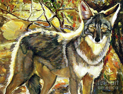 Painting - Desert Coyote by Ekaterina Stoyanova