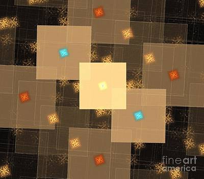 Digital Art - Desert Cubes by Kim Sy Ok