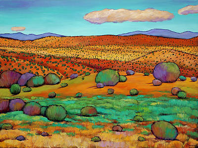 Taos Painting - Desert Day by Johnathan Harris