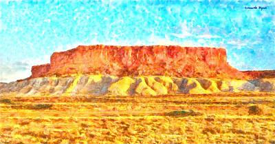 Formations Digital Art - Desert Deck - Da by Leonardo Digenio