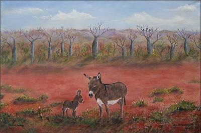 Desert Donkeys  Original by Rex Woodmore