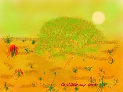 Art Print featuring the digital art Desert by Dr Loifer Vladimir