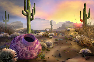 Digital Art - Desert Dreaming by Mary Almond