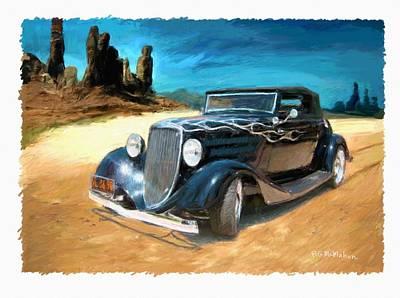 Desert Drive Art Print by RG McMahon