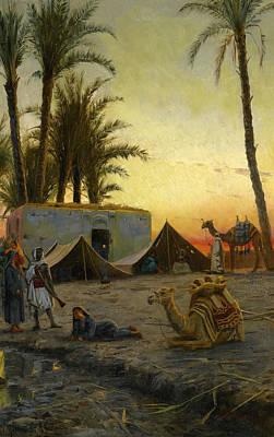 Painting - Desert Encampment by Peder Monsted