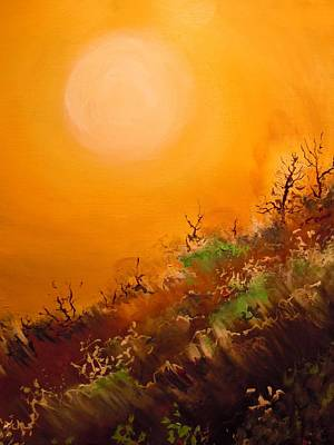 Painting - Hot Desert  Evening  by Dan Whittemore