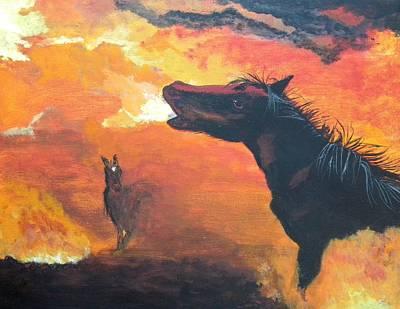 Desert Fire Art Print