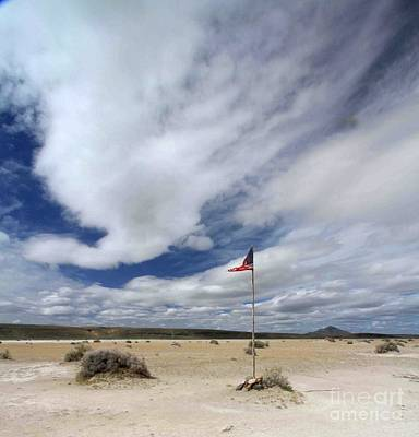 Photograph - Desert Flag by Gary Wing