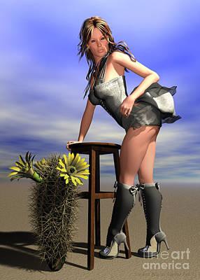 Desert Flower Art Print by Sandra Bauser Digital Art