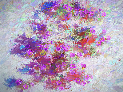 Painting - Desert Flowers Abstract 3 by Penny Lisowski