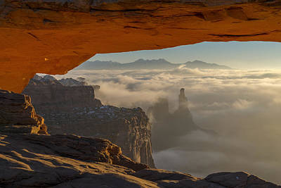 Arches Photograph - Desert Fog by Dustin  LeFevre