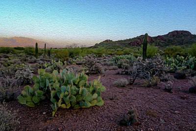 Mark Myhaver Royalty Free Images - Desert Foothills op31 Royalty-Free Image by Mark Myhaver