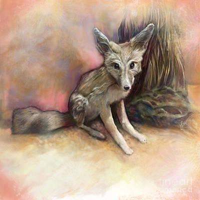 Fox Digital Art - Desert Fox by Julianne Black