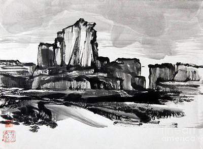 Painting - Desert by Fumiyo Yoshikawa