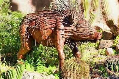 Photograph - Desert Garden Statue by Kathryn Meyer