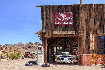 Photograph - Desert Gas Station Eldorado Canyon by Edward Fielding