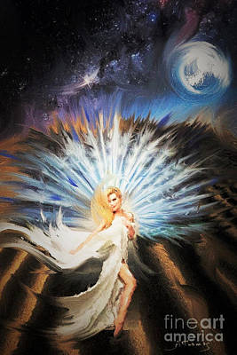 Recently Sold - Surrealism Digital Art Rights Managed Images - Desert Goddess Royalty-Free Image by Alex Thomas