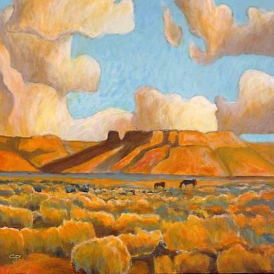 Maynard Dixon Painting - Desert Grazing by Charlie Pickens