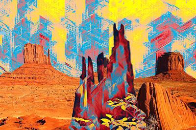 Digital Art - Desert Guardians by Lisa Yount