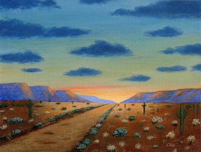 Carefree Arizona Painting - Desert Highway by Gordon Beck