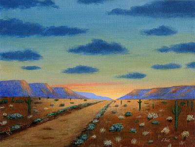 Cave Creek Western Painting - Desert Highway by Gordon Beck