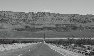 Photograph - Desert Highway Near Death Valley by Frank DiMarco