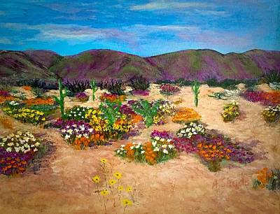 Painting - Desert In Arizona by Anne Sands