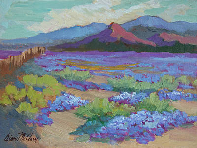 Art Print featuring the painting Desert In Bloom by Diane McClary