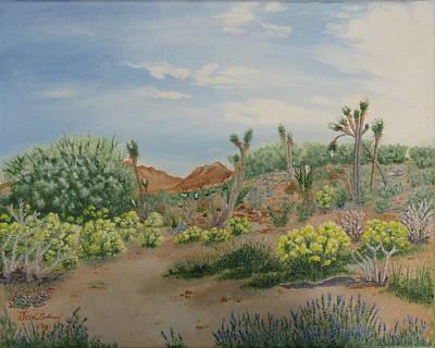 Desert In Bloom Art Print by Joan Taylor-Sullivant