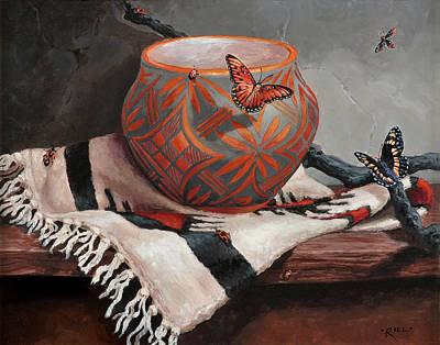 Grande Painting - Desert Jewels by Rebecca Riel